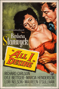 "All I Desire (Universal International, 1953). Folded, Very Fine. One Sheet (27"" X 41""). Drama"