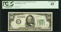 Fr. 2106-G* $50 1934D Federal Reserve Note. PCGS Extremely Fine 45