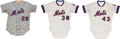 Baseball Collectibles:Uniforms, 1973-78 Game Worn New York Mets Jerseys Lot of 3. ...