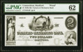 Obsoletes By State:Connecticut, Hartford, CT- Farmers and Mechanics Bank $2 18__ G10 Proof PMG Uncirculated 62.. ...