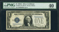 Small Size:Silver Certificates, Near Solid Serial Number 99999998 Fr. 1601 $1 1928A Silver Certificate. PMG Extremely Fine 40.. ...