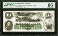 Obsoletes By State:Connecticut, Norwich, CT- Thames Bank $10 July 1, 1862 G68a Proof PMG Gem Uncirculated 66 EPQ.. ...