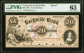 Obsoletes By State:Connecticut, Rockville, CT- Rockville Bank $20 185_ as G12 Proof PMG Choice Uncirculated 63.. ...