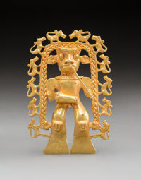 A Large and Important Gran Cocle Gold Pendant
