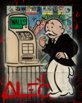 Paintings, Alec Monopoly (b. 1986). Slot Monopoly, 2014. Acrylic, spray paint, and collage on canvas with resin. 30 x 24 inches (76...