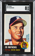 Baseball Cards:Singles (1950-1959), 1953 Topps Ed Mathews #37 SGC NM/MT 8....