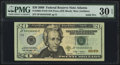 Small Size:Federal Reserve Notes, Solid 4 Serial Fr. 2095-F $20 2009 Federal Reserve Note. PMG Very Fine 30 EPQ.. ...