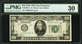 Fr. 2050-L* $20 1928 Federal Reserve Star Note. PMG Very Fine 30