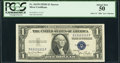 Solid 1 Serial Fr. 1613N $1 1935D Silver Certificate. PCGS About New 50