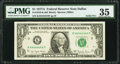 Solid 4 Serial Fr. 1910-K $1 1977A Federal Reserve Note. PMG Choice Very Fine 35