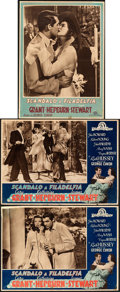 "The Philadelphia Story (MGM, 1947/R-1950s). Folded, Fine+. First Post-War Release Italian Vertical Photobusta (13.5""..."