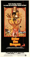 Movie Posters:Action, Enter the Dragon (Warner Bros., 1973). Fine+ on Linen....