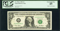 Solid 4 Serial Fr. 1926-A $1 2001 Federal Reserve Note. PCGS Extremely Fine 45