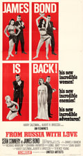 """Movie Posters:James Bond, From Russia with Love (United Artists, 1964). Fine+ on Linen. Three Sheet (41.75"""" X 79"""") Style B.. ..."""
