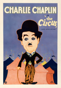 """The Circus (United Artists, 1928). Fine+ on Linen. One Sheet (28"""" X 41"""") Hap Hadley Artwork"""