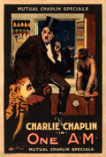 "Movie Posters:Comedy, One A.M. (Mutual, 1916). Fine/Very Fine on Linen. One Sheet (27.5"" X 41"").. ..."