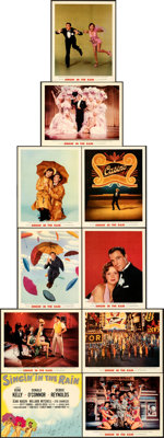 """Singin' in the Rain (MGM, 1952). Very Fine. Deluxe Lobby Card Set of 10 (11"""" X 14"""") with Original Studio Envel..."""