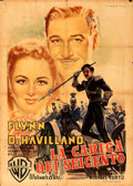 "Movie Posters:Action, The Charge of the Light Brigade (Warner Bros., 1948). Folded, Fine-. First Post-War Release Italian 2 - Fogli (39"" X 55"") Lu..."