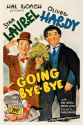 """Movie Posters:Comedy, Going Bye-Bye (MGM, 1934). Fine+ on Linen. One Sheet (27.5"""" X 41""""). From the Mike Kaplan Collection.. ..."""