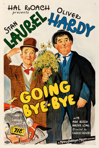 "Going Bye-Bye (MGM, 1934). Fine+ on Linen. One Sheet (27.5"" X 41""). From the Mike Kaplan Collection"