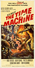 """Movie Posters:Science Fiction, The Time Machine (MGM, 1960). Folded, Fine/Very Fine. Three Sheet (41"""" X 79""""). Reynold Brown Artwork.. ..."""