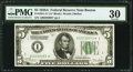 Small Size:Federal Reserve Notes, Fr. 1951-A* $5 1928A Federal Reserve Note. PMG Very Fine 30.. ...