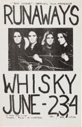 Music Memorabilia:Posters, Runaways 1978 Los Angeles Whisky-A-Go-Go Concert Poster....