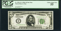 Fr. 1951-G* $5 1928A Federal Reserve Note. PCGS Choice About New 55