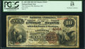 Marietta, OH - $10 1882 Brown Back Fr. 484 The Citizens National Bank Ch. # 4164 PCGS Fine 15.<