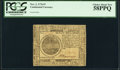 Colonial Notes:Continental Congress Issues, Continental Currency November 2, 1776 $7 PCGS Choice About New 58PPQ.. ...