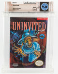 Video Games:Nintendo, Uninvited Wata 9.0 A+ Sealed NES Kemco-Seika 1991 USA....