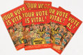Golden Age (1938-1955):Miscellaneous, Your Vote Is Vital! Box Lot (Harvey, 1952) Condition: Average FN-....