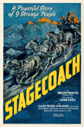 Movie Posters:Western, Stagecoach (United Artists, 1939). Fine+ on Linen....