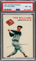 Baseball Cards:Singles (1950-1959), 1954 Wilson Franks Ted Williams PSA NM-MT 8 - Pop Five, Two Higher....