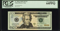 Low 18 Serial Fr. 2096-D $20 2009 Federal Reserve Note. PCGS Very Choice New 64PPQ