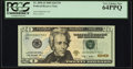 Three Digit Serial 778 Fr. 2096-D $20 2009 Federal Reserve Note. PCGS Very Choice New 64PPQ