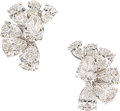 Estate Jewelry, Diamond, White Gold Earrings, Somenzi The ear...