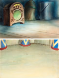 Animation Art:Painted cel background, At the Circus Production Background ...
