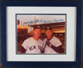 Autographs:Photos, Mickey Mantle, Whitey Ford Signed Photograph. ...