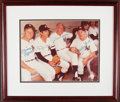 Autographs:Photos, Mickey Mantle, Billy Martin, Joe DiMaggio, Whitey Ford Signed & Framed Photograph. ...