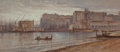 Works on Paper, Samuel Colman (American, 1832-1920). Bay of Naples (double-sided work). Watercolor and pencil on paper. 4 x 8-3/4 inches...