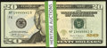 Small Size:Federal Reserve Notes, Super Radars and More $20 2013-17 FRNs Twenty-eight Examples Gem Crisp Uncirculated.. ... (Total: 28 notes)