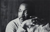 Flip Schulke (American, 1930-2008) Dr. Martin Luther King, Jr. After the 'I Have a Dream' Speech, 1963 Gelatin silver...