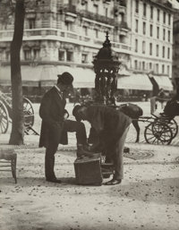 Jean Eugène Auguste Atget (French, 1857-1927) Shoeshine in Paris, 1899 Gelatin silver, printed later by Berenice...