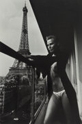 Photographs, Helmut Newton (German/Australian, 1920-2004). Model and Meccano Set, Paris, 1976. Gelatin silver, printed later. 12-1/4 ...