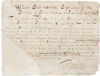 William Penn Partial Document Signed