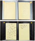 Autographs:U.S. Presidents, John F. Kennedy Uncensored Campaign Notes Made While Suffering from Laryngitis.... (Total: 2 Items)