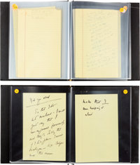 John F. Kennedy Uncensored Campaign Notes Made While Suffering from Laryngitis. ... (Total: 2)