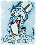 "Memorabilia:Print, ""Hoboken Penguin"" Playboy Penguin Signed Limited Edition Giclée Art Print #47/50 (Warner Brothers, 2004)...."