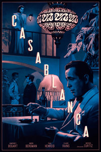 """Casablanca by Rory Kurtz (2017). Rolled, Near Mint. Hand-Numbered Screen Print Poster (24"""" X 36"""") Normal Varia..."""